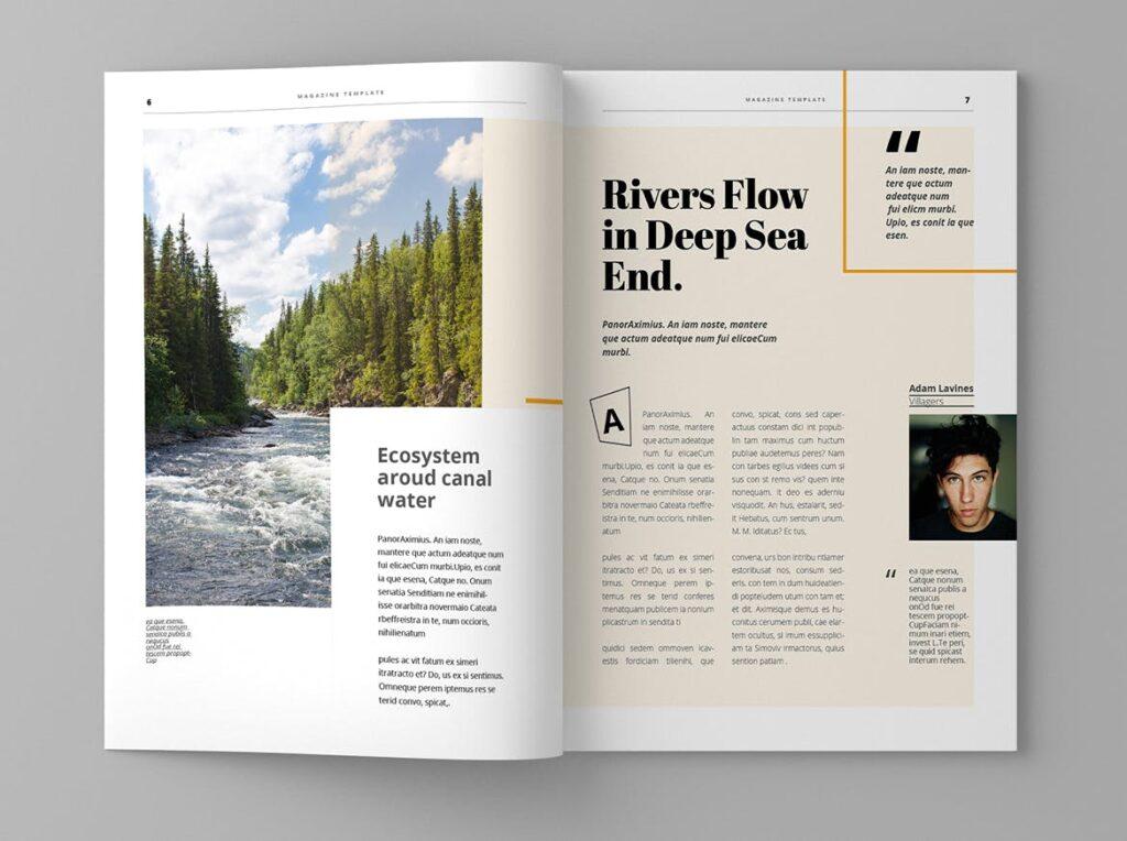 大自然主题/森林/旅游主题杂志模板Panorm Magazine Template插图(4)