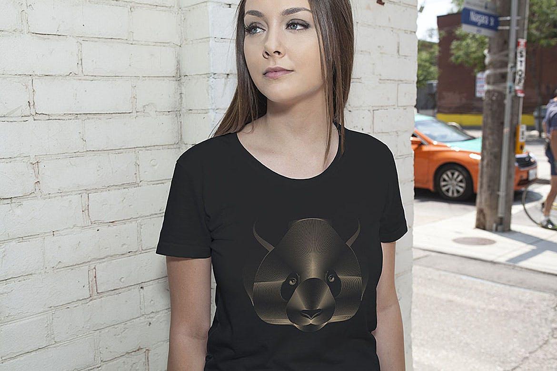 杂点风动物头像设计服装品牌装饰图案Point Animals T-shirt Vector Designs插图(4)