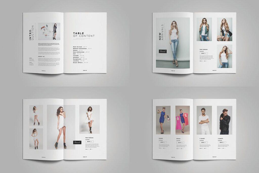时尚服装/产品目录画册模板Product Catalog Template插图(4)