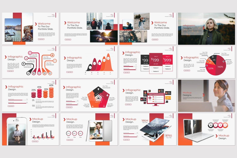 企业市场策划/企业年报汇报PPT幻灯片模板Rule Creative Keynote插图(4)