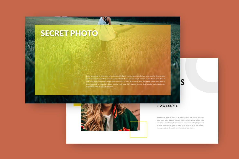 旅游主题品牌宣传PPT幻灯片模板Scret Google Slide插图(4)