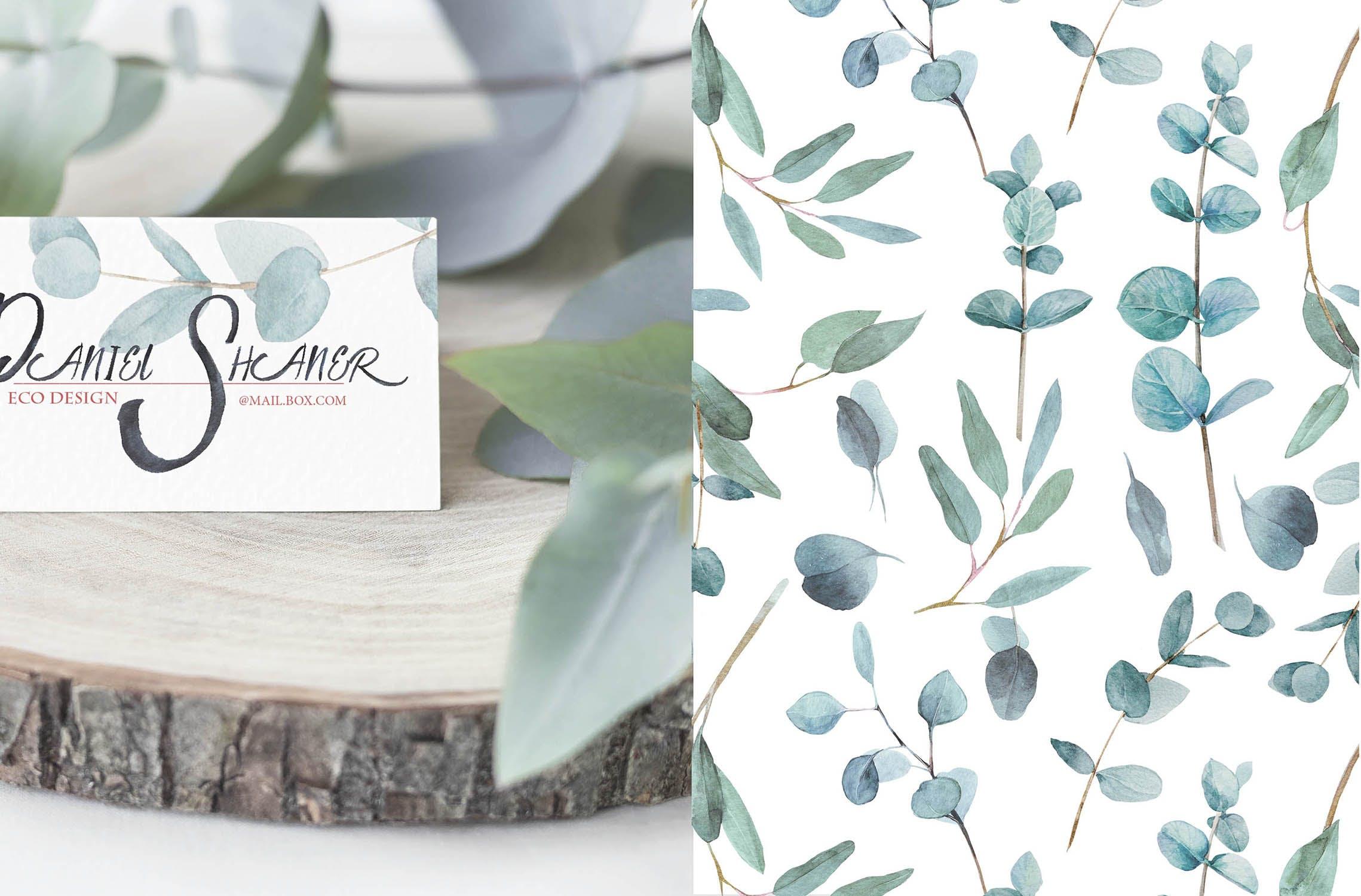 绿植素材相框装饰画墙纸壁纸画Seamless patterns Artarian vol 23插图(4)