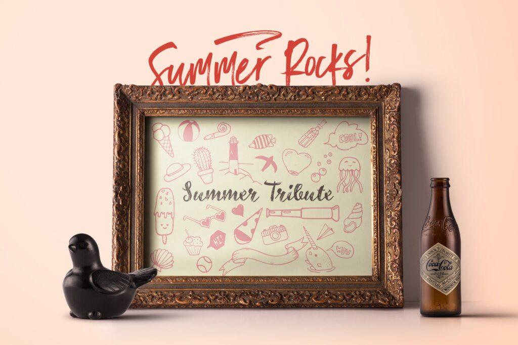 夏季主题元素装饰图案纹理下载Summer Rocks! Vectors Collection插图(4)