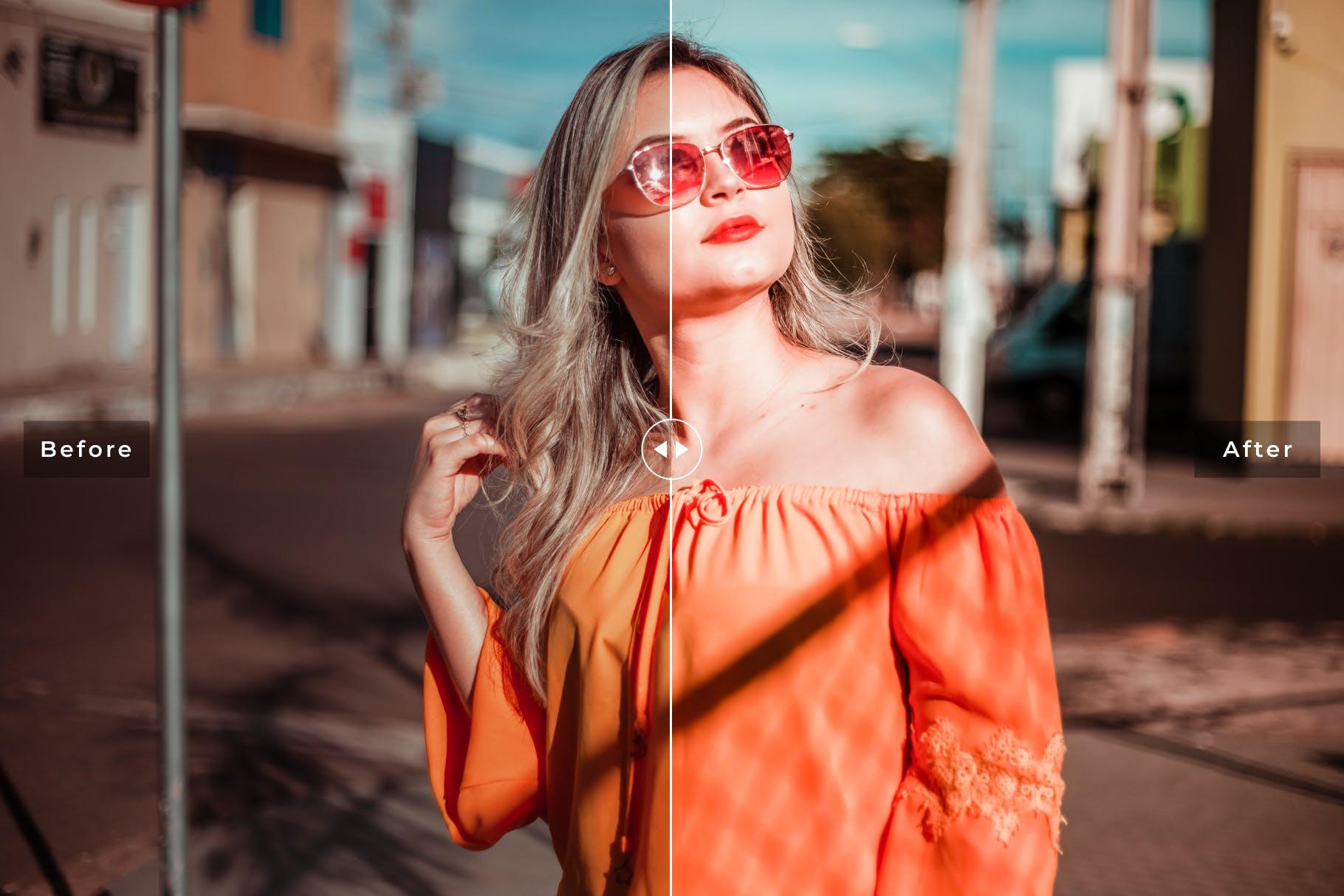 橙色色调与阳光沐浴Sun Kissed Mobile Desktop Lightroom Presets插图(4)