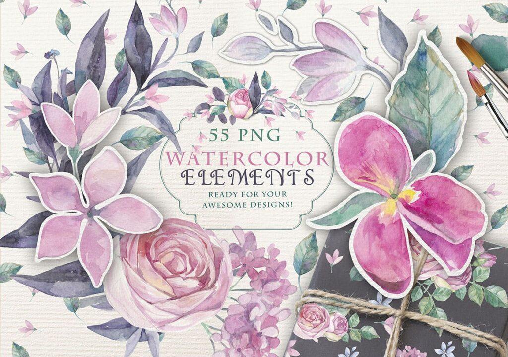 企业品牌装饰图案花卉/花圈/装饰图案The garden roses插图(4)
