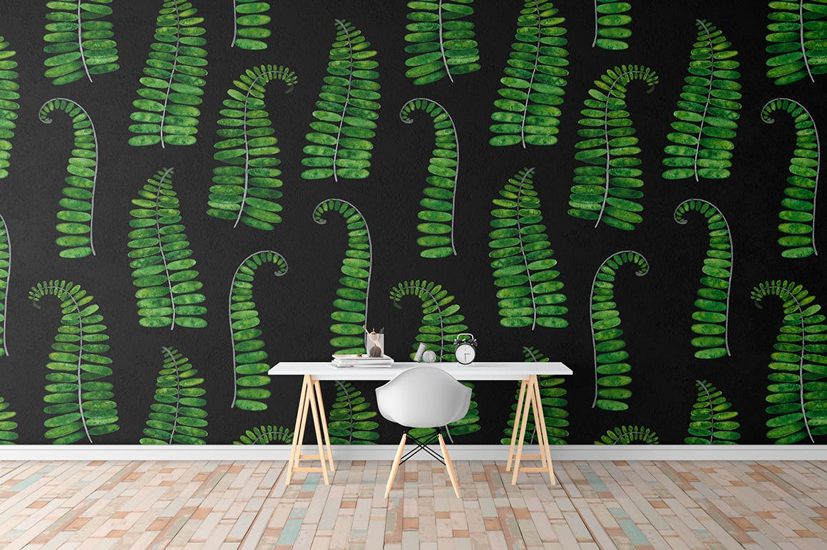 夏季热带森林电视背景墙图案花纹Tropical summer patterns插图(4)