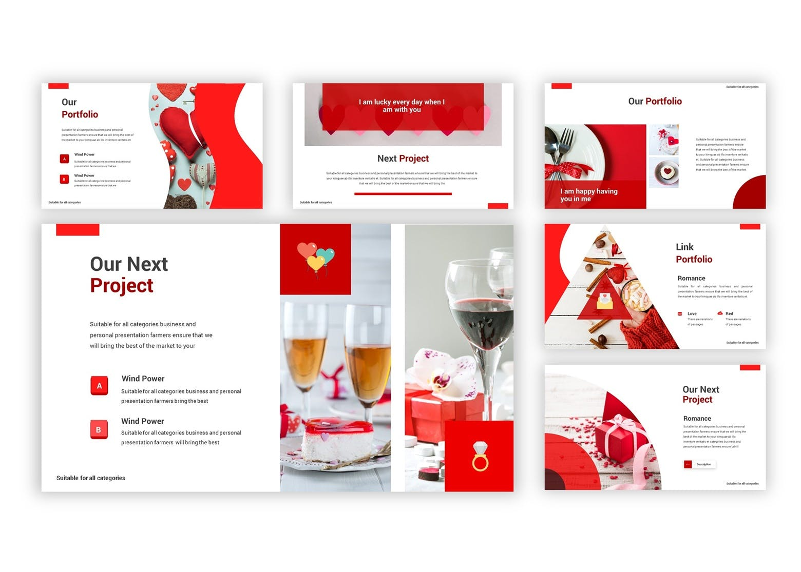 产品市场调研数据集PPT幻灯片模板下载Valentine Google Slides Template插图(4)