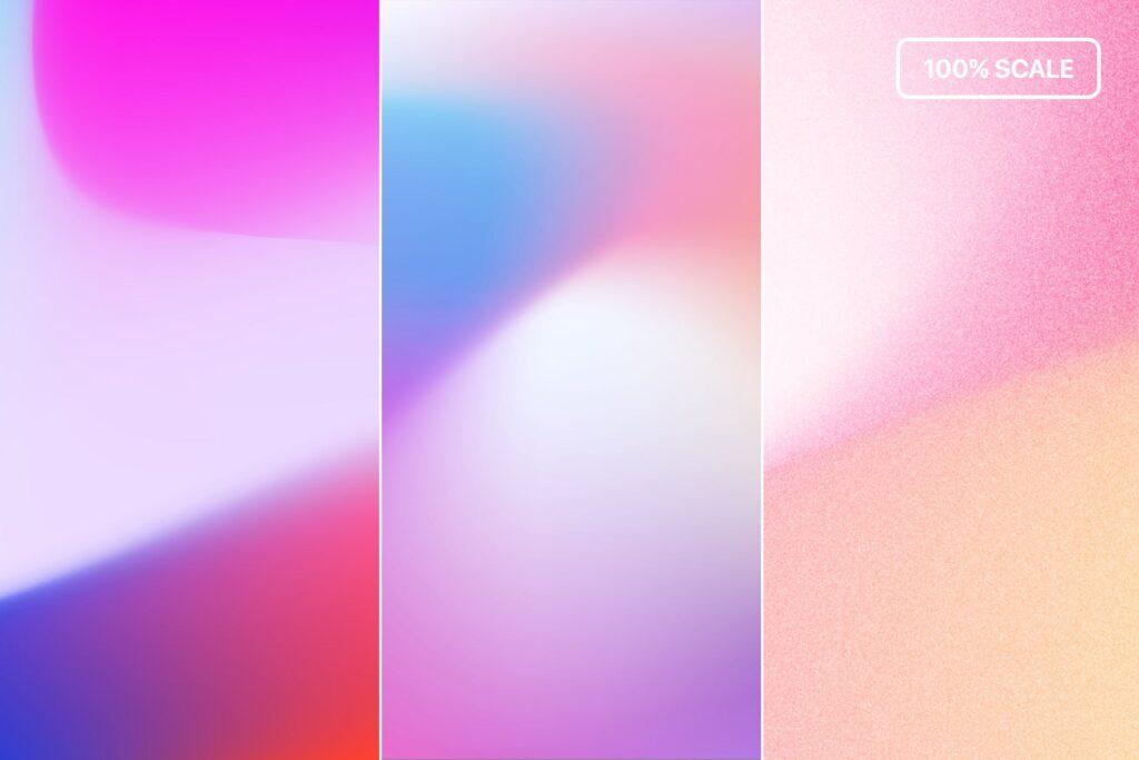 多彩渐变背景手机壁纸渐变背景主题元素下载Vivid Gradients Backgrounds插图(4)