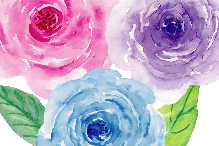 水彩紫罗兰系列主题装饰图案Watercolor Clipart Violet Collection插图(4)