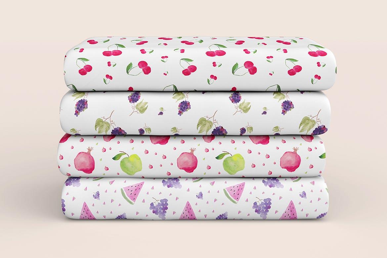 20个手绘水彩水果图案纹理花纹手机壳装饰图案纹理Watercolor Fruit Patterns插图(4)