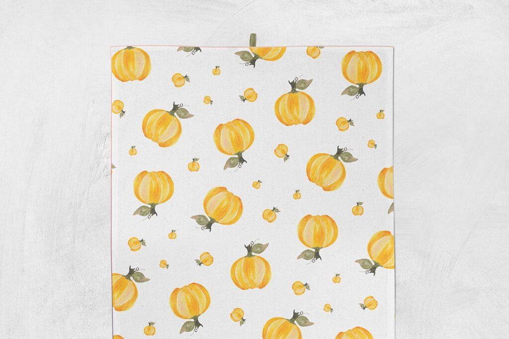 手绘水彩蔬菜组合装饰图案餐饮品牌VI装饰图案Watercolor Veggie Patterns插图(4)
