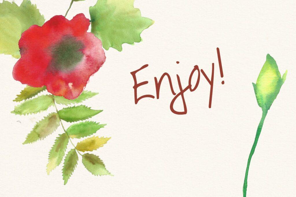 水彩花朵树叶和花环主题元素装饰图案Watercolor Wreathes and Bouquets插图(4)
