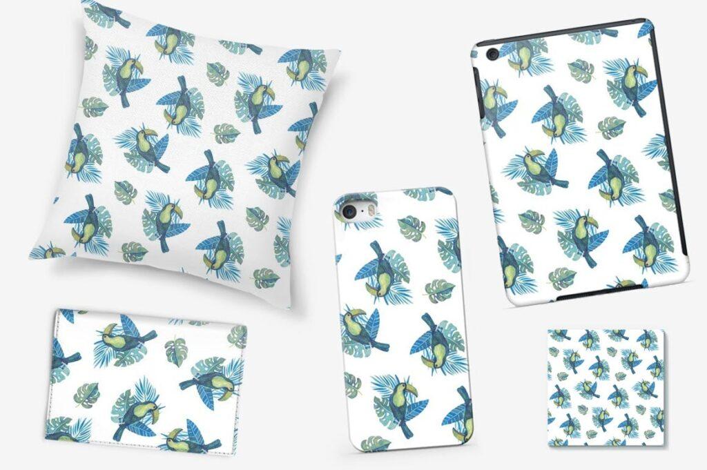 水彩画热带森林绿植绘画元素素材下载Watercolour Amazon Clipart插图(3)
