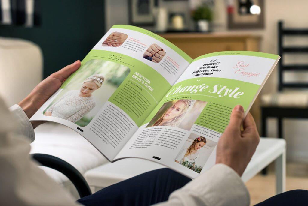 文艺精致版式环保主题婚礼杂志模板Wedding Magazine Template插图(4)