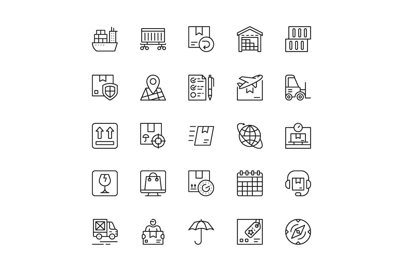 150个线性图标设计源文件下载150 Line Icons插图(5)