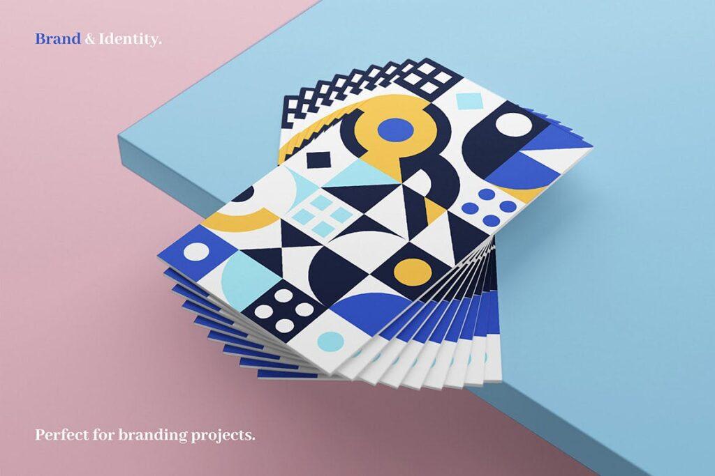 8个有趣和多彩的创意几何平面构成图案Abstract Geometric Patterns插图(5)
