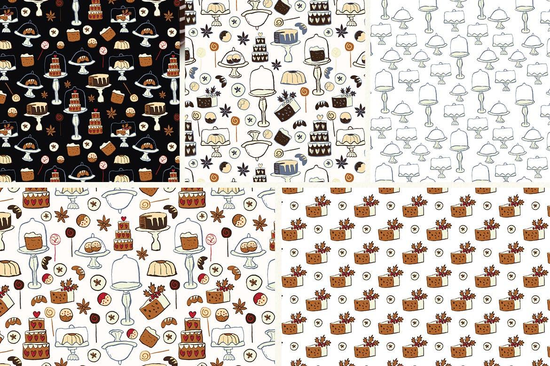 生日蛋糕相关元素装饰图案纹理Cakes Patterns插图(11)