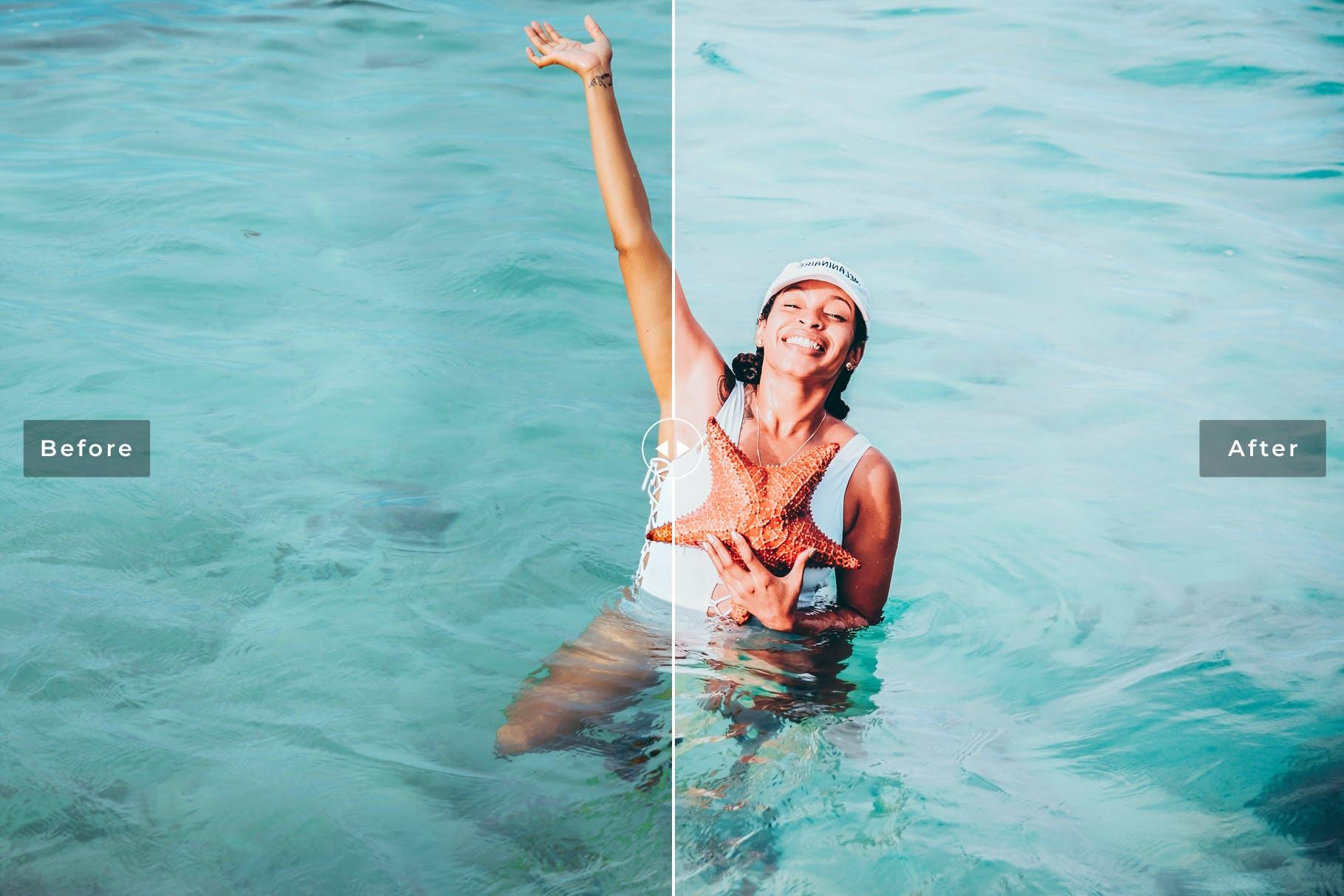 海滩冲浪系列调色照片效果处理LR预设Caribbean Mobile Desktop Lightroom Presets插图(5)