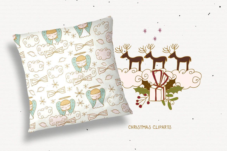 圣诞节剪贴画矢量手绘元素装饰素材Christmas Cliparts插图(5)