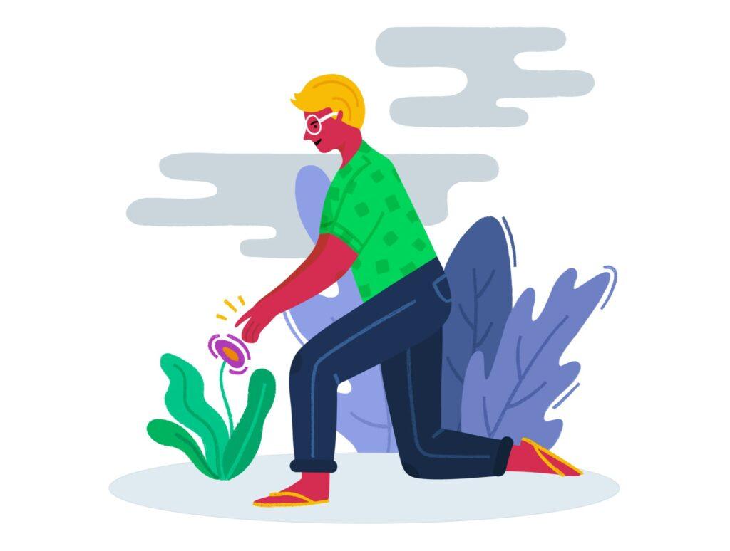 10个手绘扁平风的艺术作品插画Colourful Fun Illustrations插图(5)