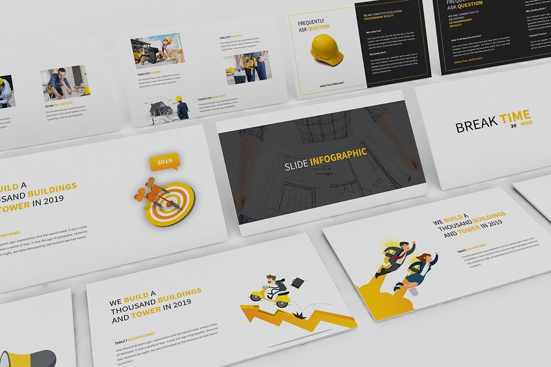 建筑行业团队介绍幻灯片模板展示Construction Powerpoint Presentation插图(5)