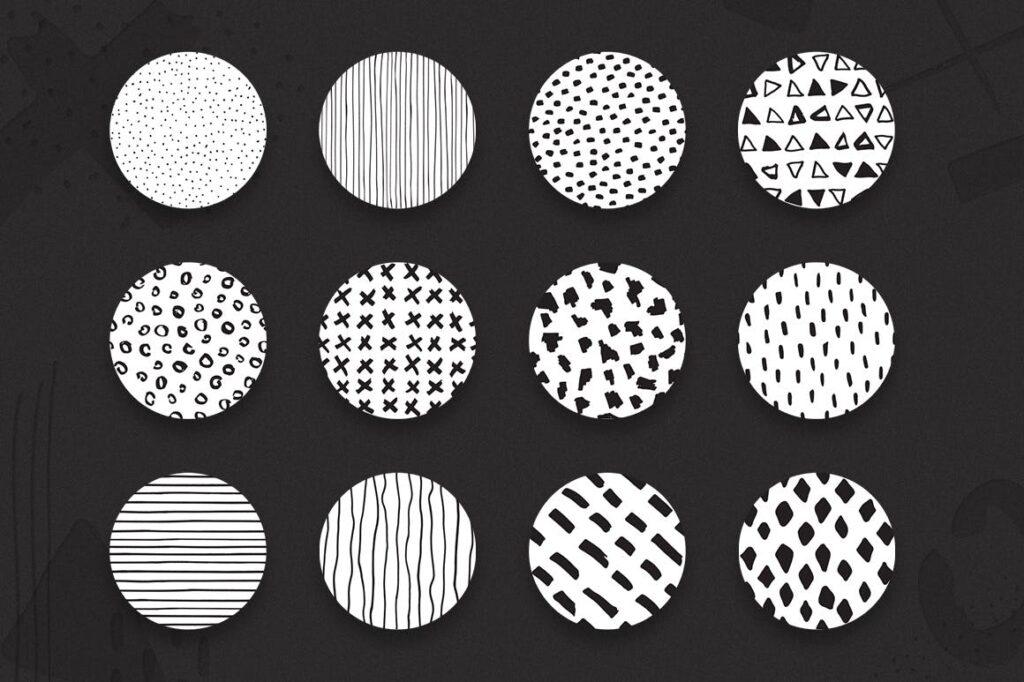 高端文艺企业品牌VI辅助图形装饰图案下载Delicious Patterns Pack Bonus插图(5)