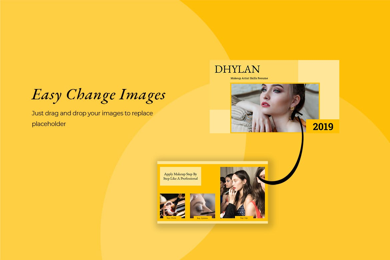 美容院市场营销策划主题幻灯片模板下载Dhylan Beauty Salon Keynote插图(5)