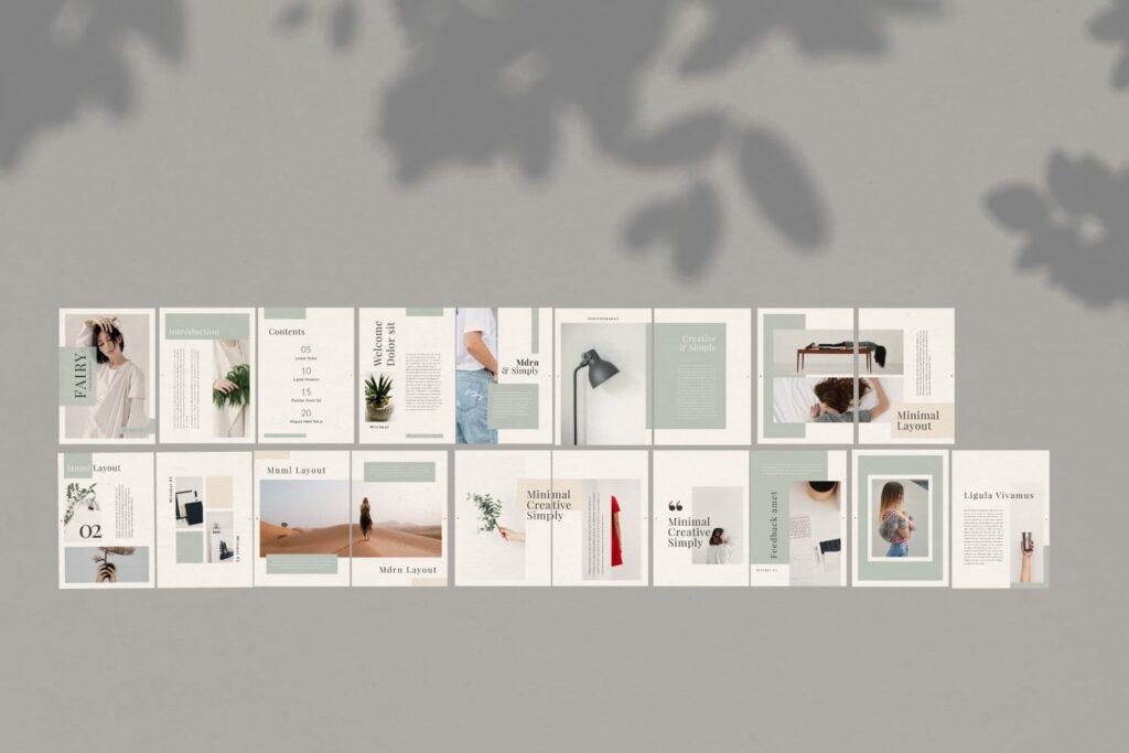 简约时尚工作室产品介绍主题画册模板Fairy Lookbook Brochure Business Company Xyuzvt6插图(5)