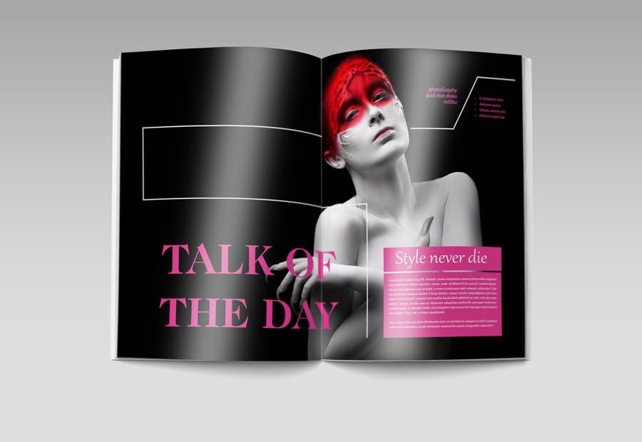 模特经纪或时装展览杂志模板素材Fashion Magazine R8C6UK插图(5)