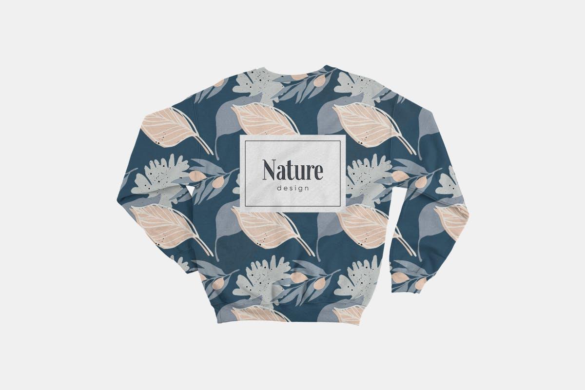 自然和花朵影响的艺术图案化妆品牌包装装饰图案Floral Backgrounds Patterns插图(5)