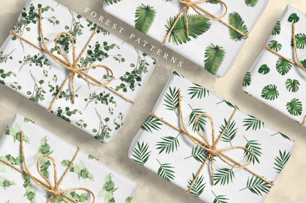 自然和森林主题元素装饰图案创意设计Forest Illustrations Graphics Kit插图(5)