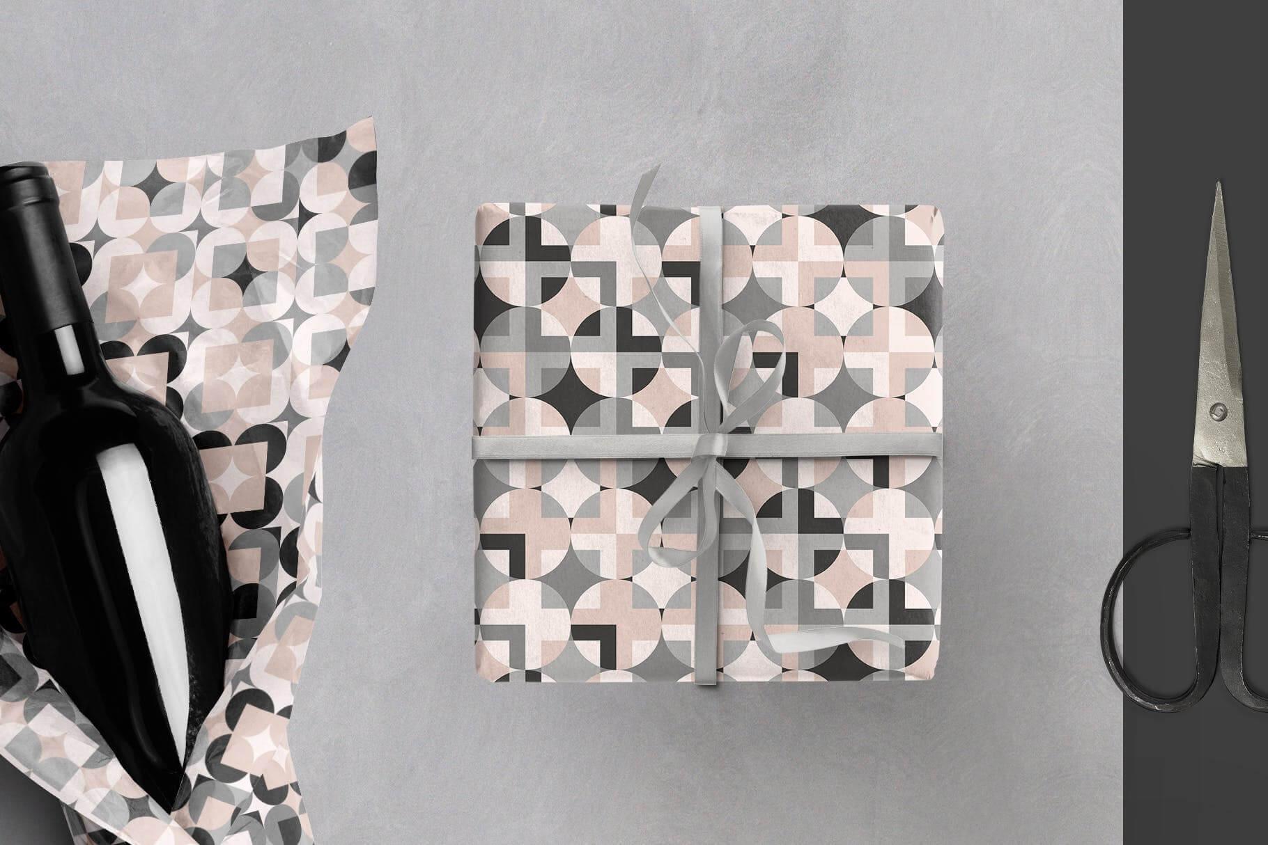 布艺面料装饰纹理图案花纹品牌辅助图形Geometric Play Patterns Tiles插图(5)