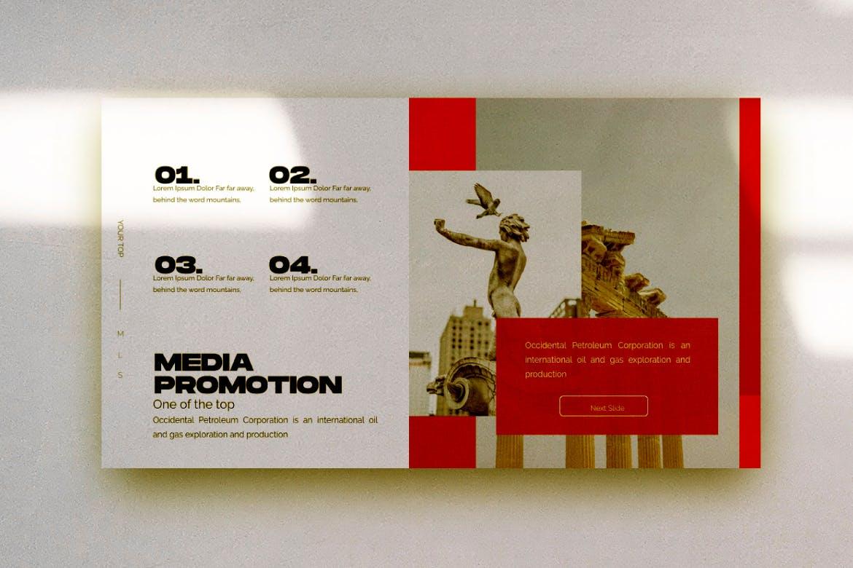 艺术雕塑主题演讲模板PPT幻灯片下载HAMLET Urban Powerpoint Design插图(5)