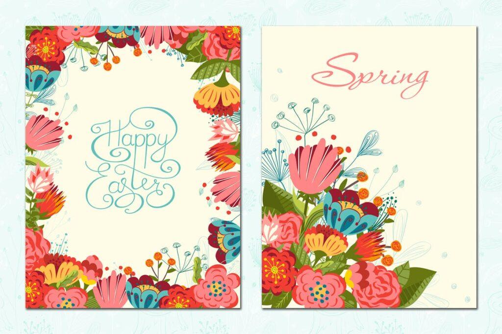 复活节贺卡装饰图案和海报纹理图案Happy Easter插图(5)