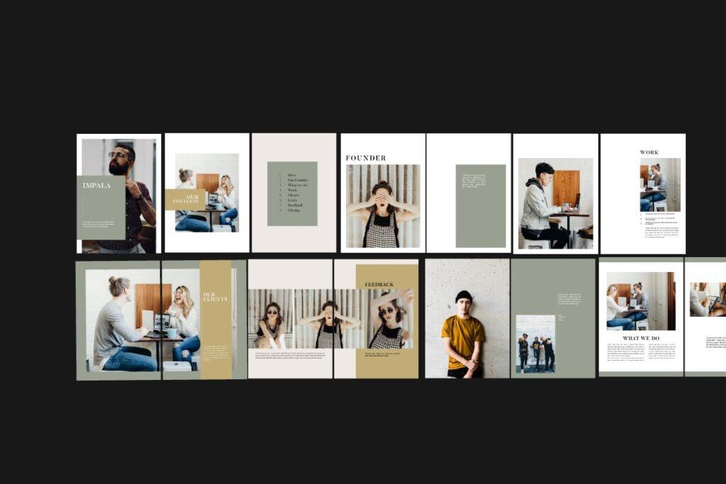 投资组合小册子模板设计师工作室内设计目录画册模板IMPALA Brochure Template插图(5)