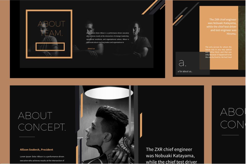 时尚品牌产品发布会PPT幻灯片模板IRISH Brown Keynote插图(5)
