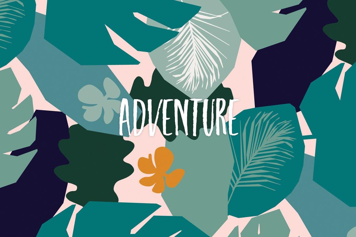 野外40个丛林元素矢量图案元素下载Jungle Patterns Collection插图(5)