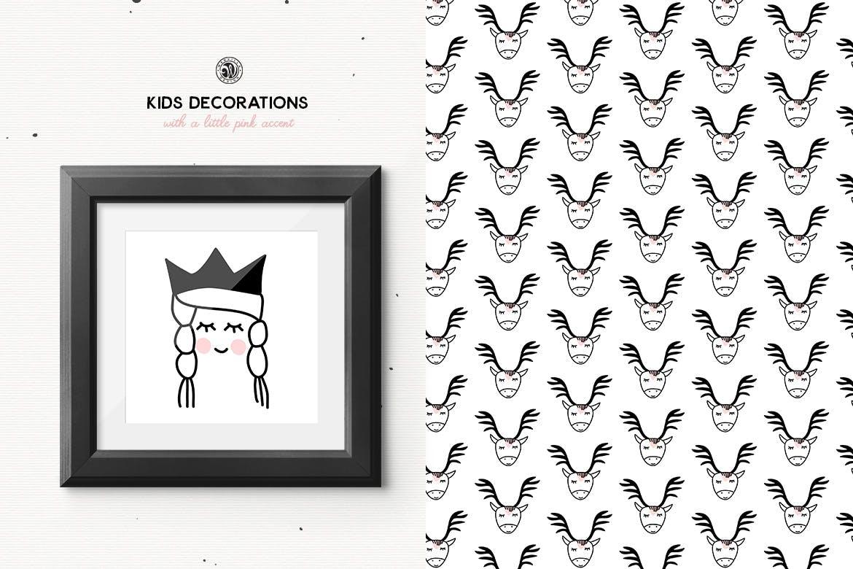 儿童装饰品手工制作的剪贴画图案花纹素材下载Kids Decorations插图(5)