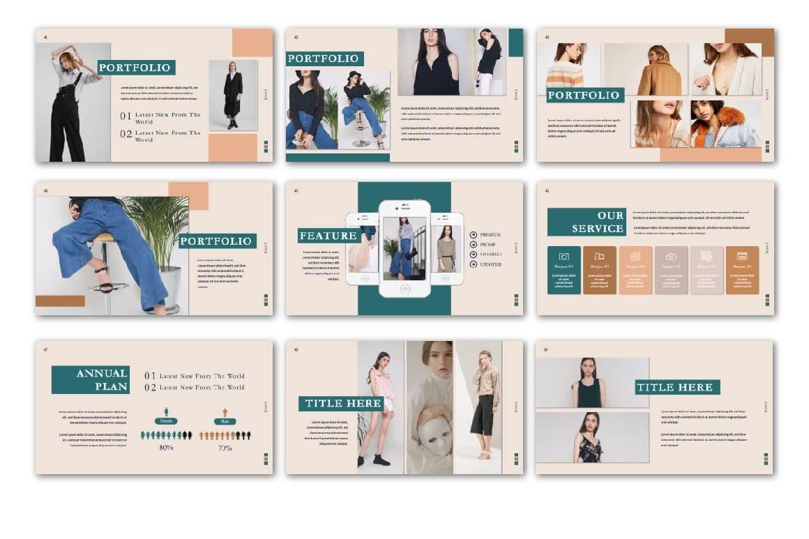 极致简洁暖色系品牌宣传PPT幻灯片模板Look Keynote Template插图(5)
