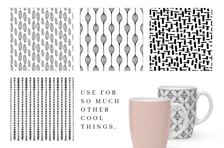 食品品牌包装装饰图案纹理素材模板MALINA 36 Seamless Pattern插图(5)