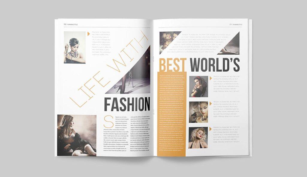 写真集/采访/画廊主题杂志模板下载Magazine Template 6N4PTQJ插图(5)
