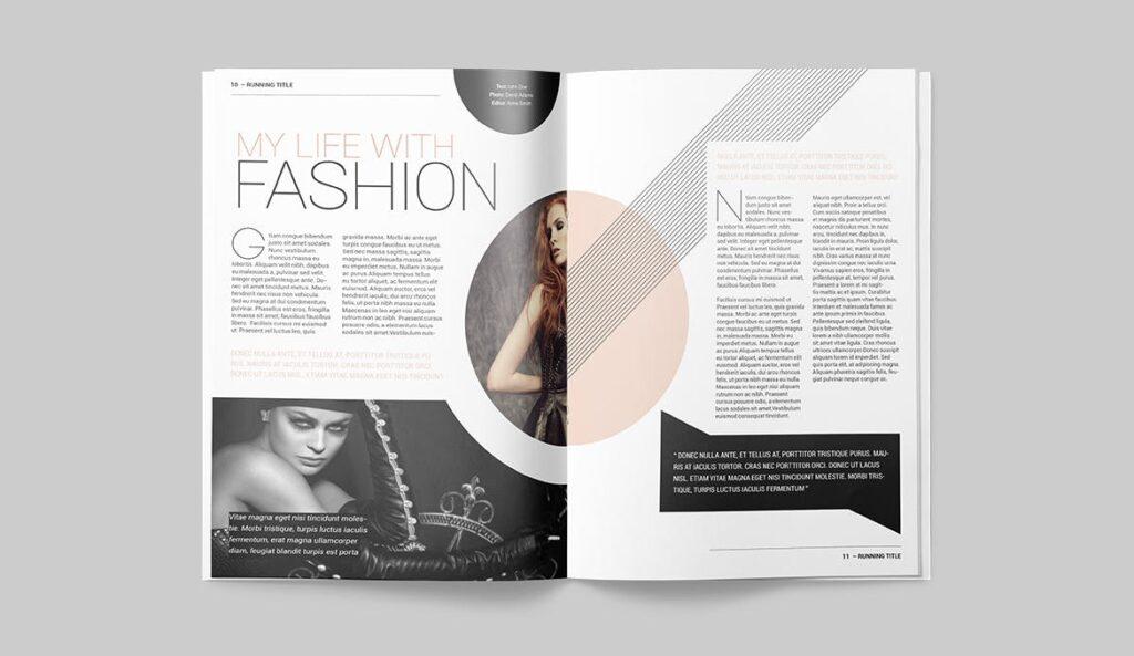 时尚潮流/画廊主题杂志模板Magazine Template SLCJBWR插图(5)