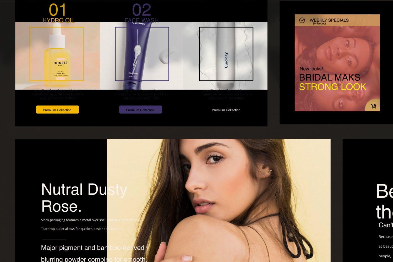 高端化妆品新品发布会PPT幻灯片模板Make Over Google Slide插图(5)