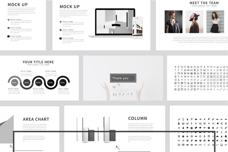 企业市场策划多用途PPT幻灯片模板Minimalism Clean Powerpoint插图(5)
