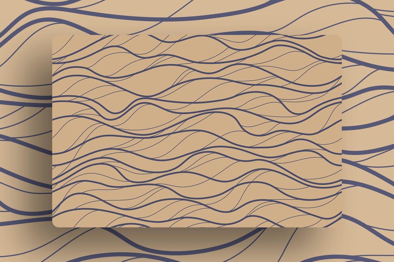 复古波浪条纹无缝图案Minimalist Waves Seamless Patterns插图(5)