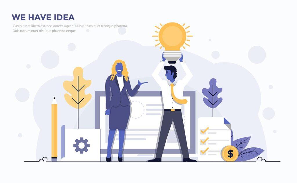 企业市场销售数据汇报场景插画素材下载Modern Flat design people and Business concepts Kxhba7插图(5)