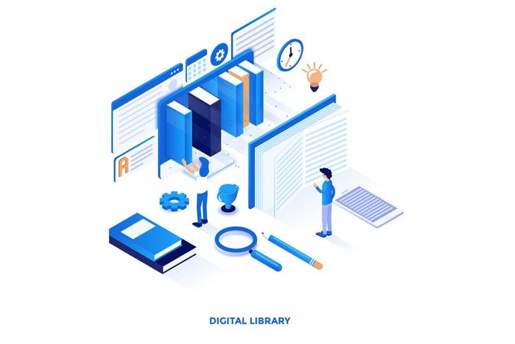 2.5D企业销售数据展示互联网销售场景创意插画设计Modern flat design isometric illustrations插图(5)