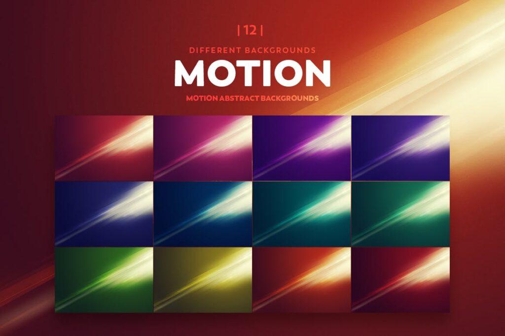 抽象科技感渐变纹理背景素材元素Motion Abstract Backgrounds插图(4)