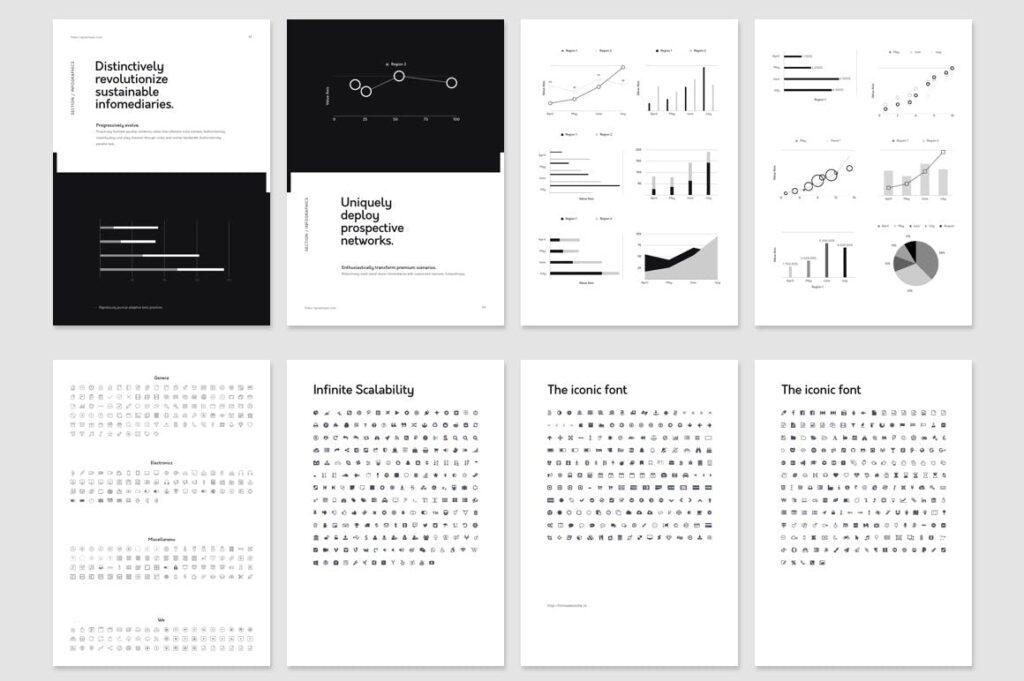 北欧风家居产品风格画册杂志模板下载Nano Illustrator Stationery Template插图(5)