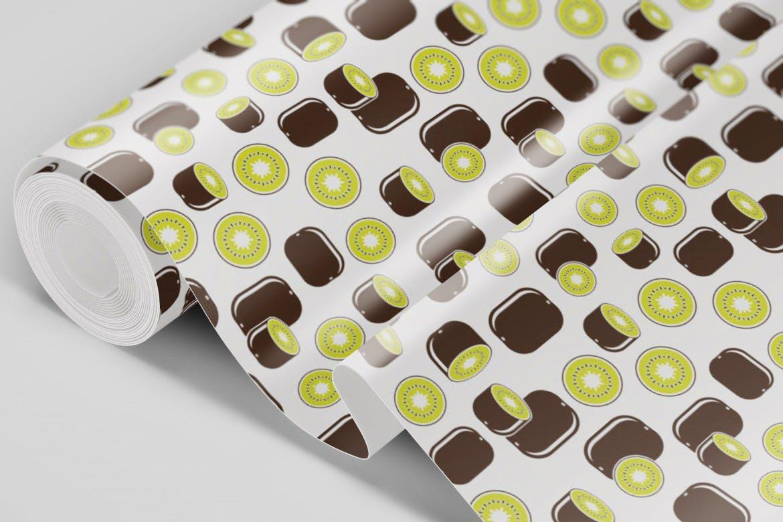 餐饮品牌包装装饰图案水果创意插画元素下载Natural Fruit Juices Seamless Patterns Vol 2插图(5)